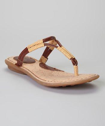 Saddle & Oro Reverie Leather Sandal