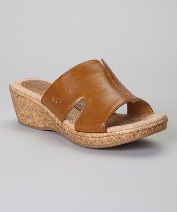 Mocha Teraina Leather Sandal