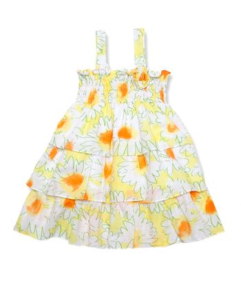 Yellow Tiered Dress - Infant, Toddler & Girls