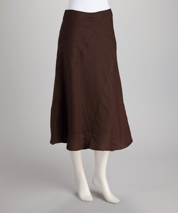 Chocolate Handkerchief Skirt