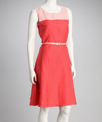 Corallina Belted Sleeveless Dress