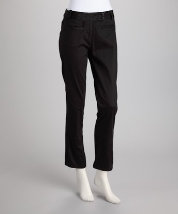 Black Tab Pants
