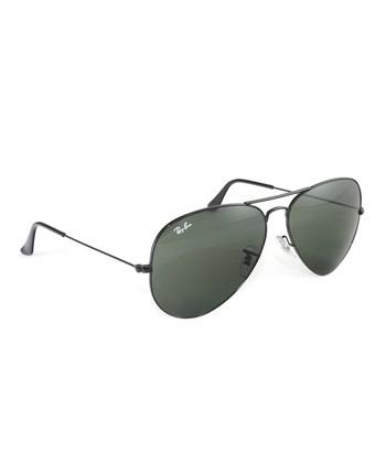 Ray-Ban Black Large Aviator Sunglasses