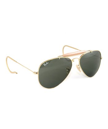 Black & Gold Outdoorsman Aviator Sunglasses