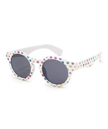 A.J. Morgan White Dotty Sunglasses