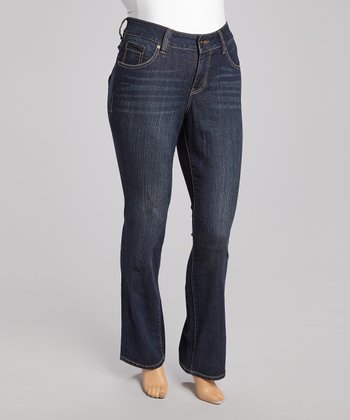 Dark Blue Cheyenne Bootcut Jeans - Plus