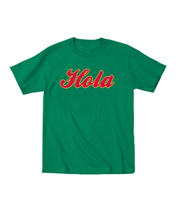 Kelly Green 'Hola, Adios' Tee - Toddler & Kids