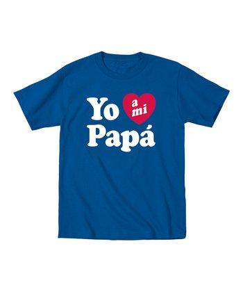 Ay Caramba Royal Blue 'I Love My Papá' Tee - Toddler & Kids
