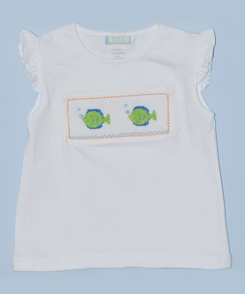 K&L White Fish Embroidered Tee -Infant & Toddler