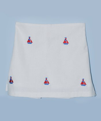 K&L White Sailboat Skort - Infant & Toddler