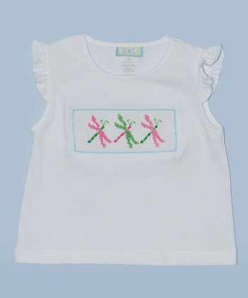 K&L White Dragonfly Embroidered Tee - Infant & Toddler