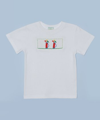 K&L White Golf Bag Embroidered Tee - Toddler & Boys