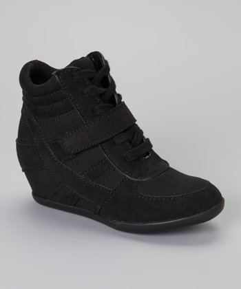Black Suede Bubbly Hi-Top Sneaker