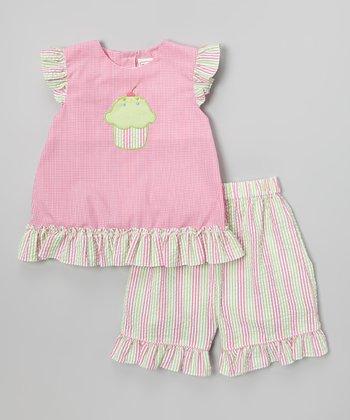 Pink Cupcake Top & Shorts - Infant
