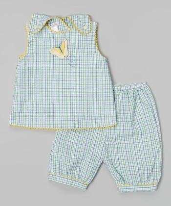 Blue Butterfly Jumper Top & Pants - Infant & Toddler