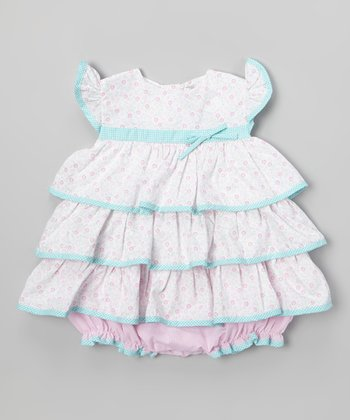 Pink Tiered Ruffle Bodysuit - Infant