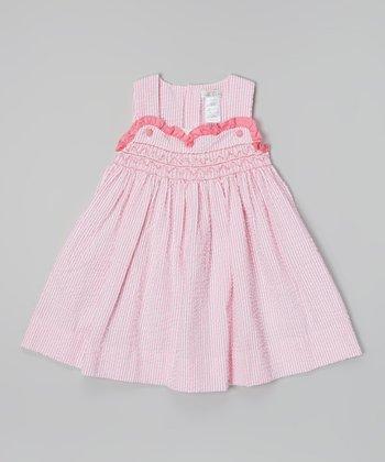 Pink Seersucker Jumper - Infant & Toddler