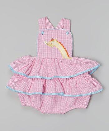 Pink Giraffe Ruffle Bodysuit - Infant