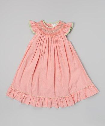 Red Check Smocked Dress - Toddler