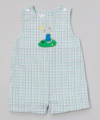 Blue Plaid Golf John Johns - Infant