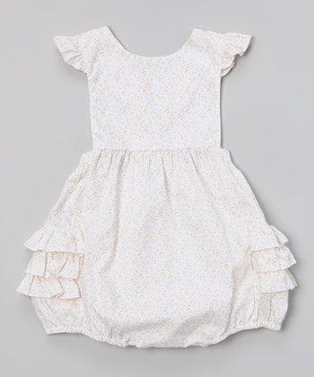 Pink Floral Ruffle Bubble Bodysuit - Infant