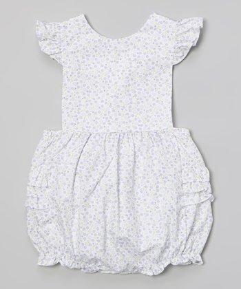 Lavender Floral Ruffle Bubble Bodysuit - Infant