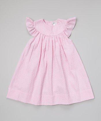 Pink Seersucker Yoke Dress - Toddler