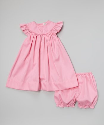 Fuchsia Yoke Dress & Bloomers - Infant