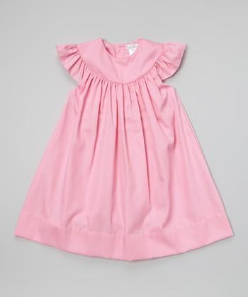Fuchsia Yoke Dress - Toddler