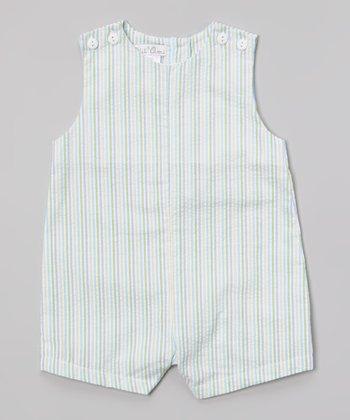 Green & Blue Seersucker John Johns - Infant & Toddler