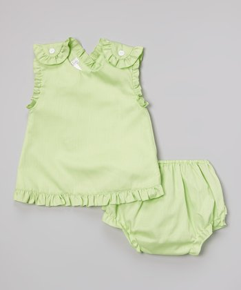 Lime Ruffle Top & Bloomers - Infant