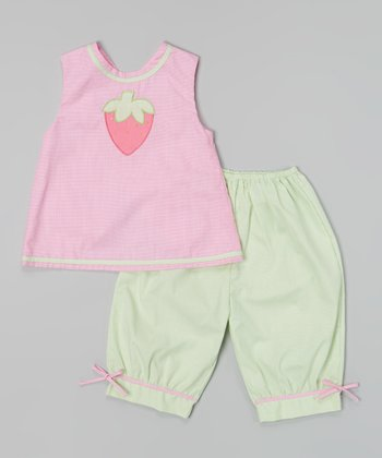 Pink Strawberry Swing Top & Pants - Infant & Toddler