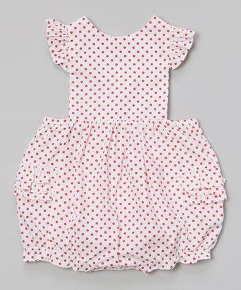 Red Polka Dot Ruffle Bubble Bodysuit - Infant