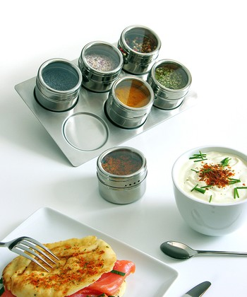 Stainless Steel Magnetic Spice Jar Set