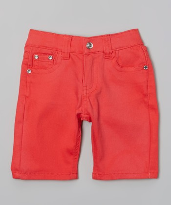 Red Bling Bermuda Shorts