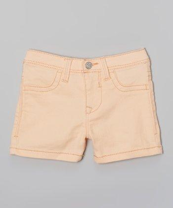 Peach Twill Shorts