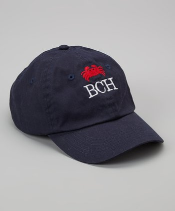 Navy Crab Monogram Baseball Cap - Toddler