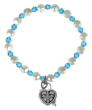 March Birthstone Prayer Box Bracelet