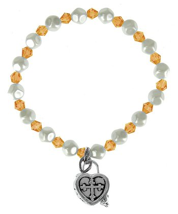 November Birthstone Prayer Box Bracelet