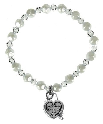 April Birthstone Prayer Box Bracelet