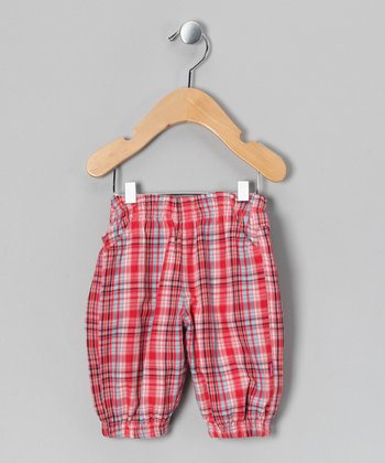 Pink Lemonade Plaid Ilmi Pants - Infant