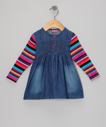 Denim Cerise Bette Dress - Infant, Toddler & Girls