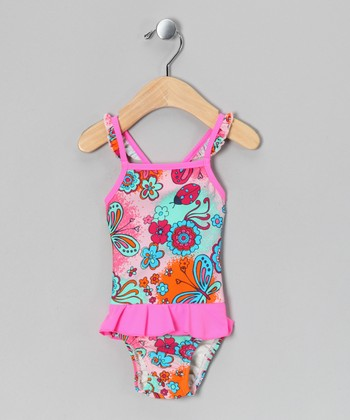 Parfait Pink Kea Skirted One-Piece - Infant & Toddler