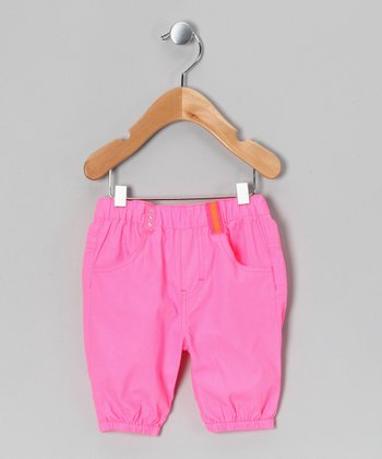 Pink Karlina Capri Pants - Infant, Toddler & Girls
