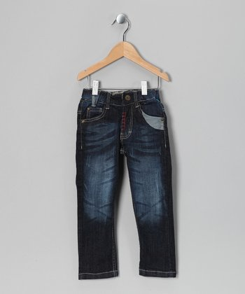 Dark Wash Hansi Bam Jeans - Toddler & Boys