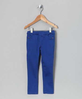 Blue Hines Bam Jeggings - Toddler & Girls