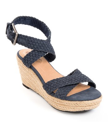 Denim Blue Velutto Porsha Espadrille