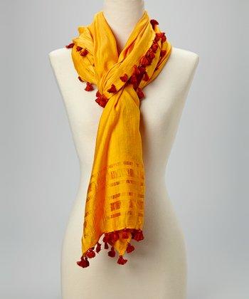 Fiore by La Fiorentina Yellow Tassel Scarf
