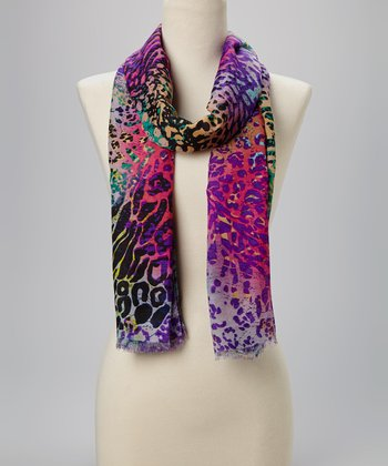 Purple & Pink Jungle Scarf