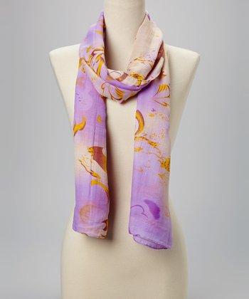 Fiore by La Fiorentina Lavender & Yellow Scarf